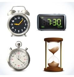 Realistic clock set vector image