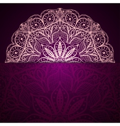Stylish purple background with a light circular vector
