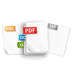 Paper sheet icons vector