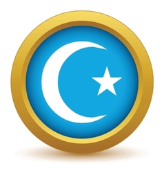 Gold islam icon vector