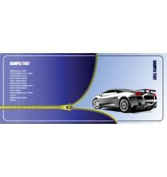 Zipper and car vector