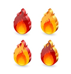 Fire icons vector