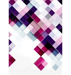 Square shape mosaic pattern design universal vector