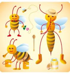 happy bees vector image