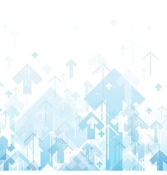 Blue Arrows Up Abstract background vector image