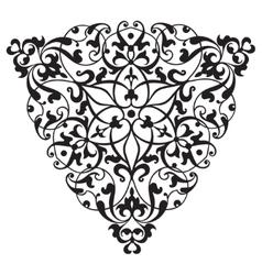 Oriental decorative element zentangle black and vector