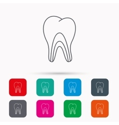 Dentinal tubules icon tooth medicine sign vector