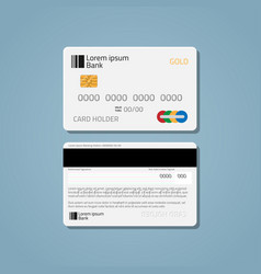 Bank credit debit card vector