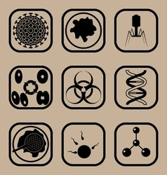 Biology icon set vector image