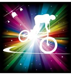 bmx cyclist vector image