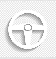 Car driver sign white icon with soft vector