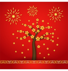 Chinese new year cerabration background vector image