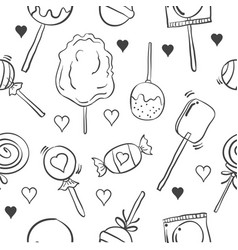 collection of various candy doodle style vector image vector image