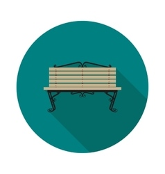 Flat icon bench vector