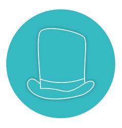 Gentleman hat isolated icon vector