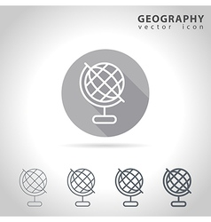 Geography outline icon vector