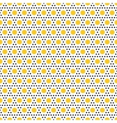 Gold and black dots seamless pattern vector image vector image