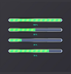 icons of loading bar vector image