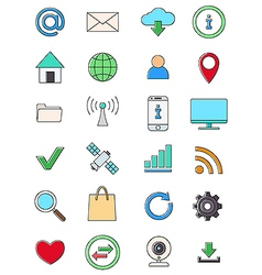 Interner icons set vector image vector image