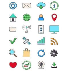 Interner icons set vector