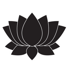 lotus flower blosson icon on white background vector image vector image