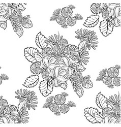 Monochrome black and white seamless pattern vector