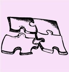 Puzzle 4 parts vector