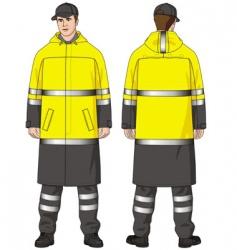 Raincoat mans vector
