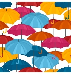 Seamless pattern with colored umbrellas for vector image vector image