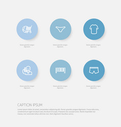 set of 6 editable business icons includes symbols vector image vector image