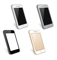 Smartphone cell phone collection vector image vector image