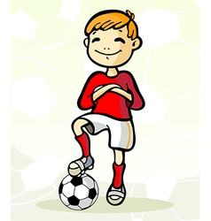 soccer player with ball vector image