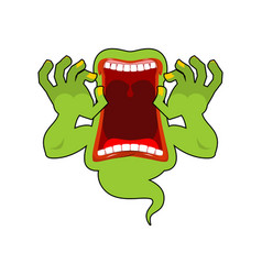 spook wild howl scary ghost shouts horrible vector image vector image