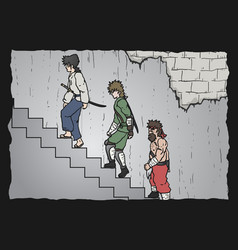 stair comic vector image