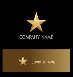 star 3d gold company logo vector image