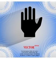 Stop hand Flat modern web design on a flat vector image