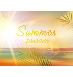 Summer beach background in retro style vector image