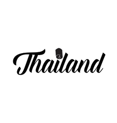 Thailand word icon simple style vector