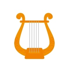 Music instrument harp icon vector