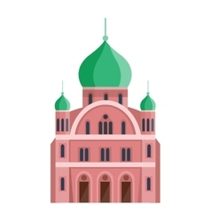 Cathedrals and churches temple building vector
