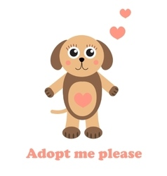 Adopt a dog dog adoption concept happy dog in vector