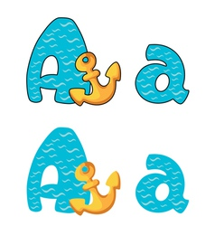 letter A anchor vector image