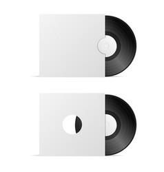 Vinyl record blank vector