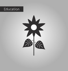 Black and white style icon flower vector