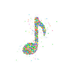 Abstract musical note vector