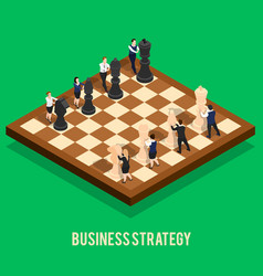 Business strategy chess concept vector