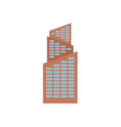 Office building isolated city architecture sign vector