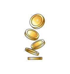 Golden falling coins money vector