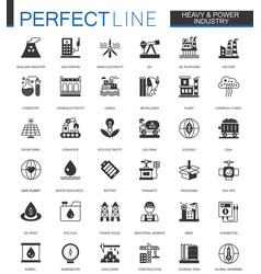black classic oil heavy and power industry web vector image