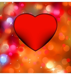 Heart bokeh frame with space eps 8 vector